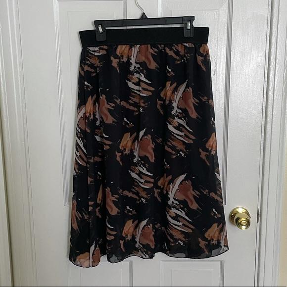 Large Black and Brown Skirt Lularoe